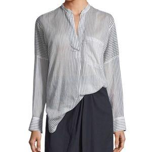 Vince Pencil Stripe Pullover Tunic